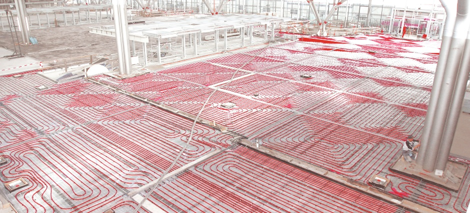 Underfloor heating super mario repipe for Best flooring for hydronic heat